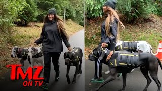 Ciara's Got 3 MASSIVE Dogs! | TMZ TV