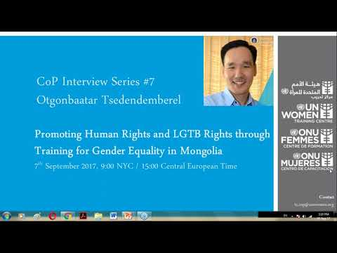 CoP Interview Series   Promoting LGTB Rights through Training for Gender Equality - 2017-09-07