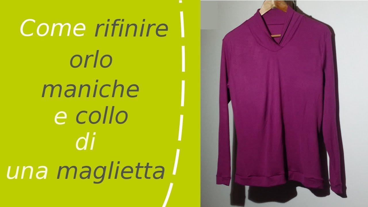 Come Youtube Di E Orlo Collo Rifinire Maglietta Una Maniche rwq8vrfp