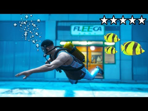 I robbed a bank UNDERWATER!! (GTA 5 Mods - Evade Gameplay)