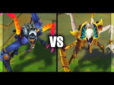 Praetorian Fiddlesticks vs Risen Fiddlesticks Epic Skins Comparison (League of Legends)