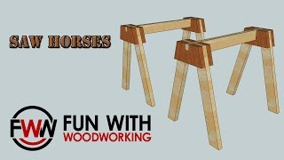 Project - How To Build Some Sturdy Saw Horses