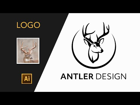 ILLUSTRATOR TUTORIAL: How simply LOGO can be designed from photo thumbnail