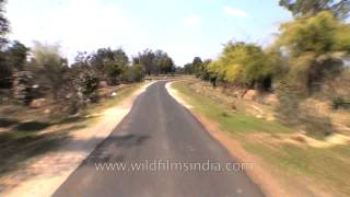 Travelling through the roads of Mandla town, Kanha