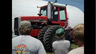 Massey Ferguson Tractors & Combine on Iowa Farm Auction 6/27/12