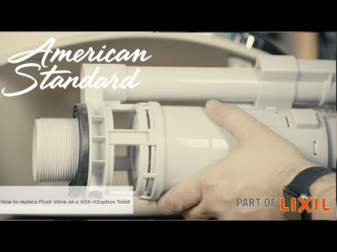 How To Replace The  Flush Valve On The ADA H2Option Toilet By American Standard
