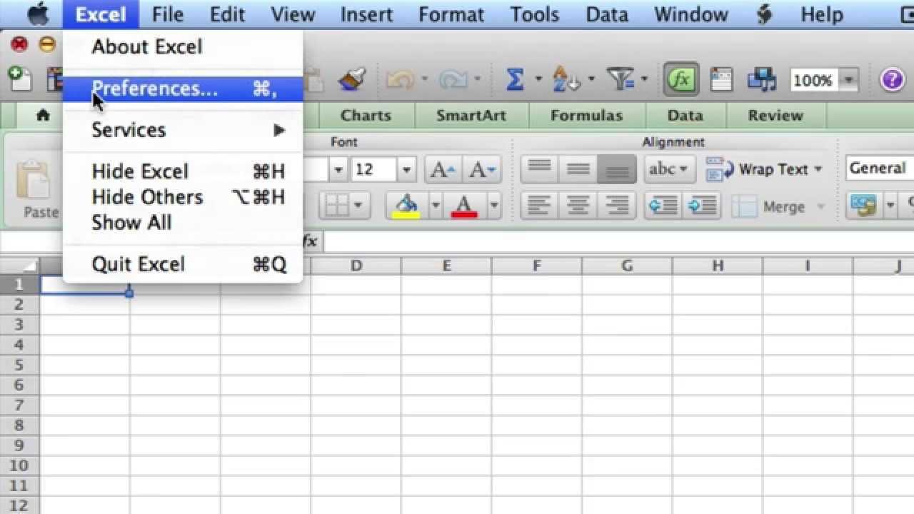 Excel mac 2011 add