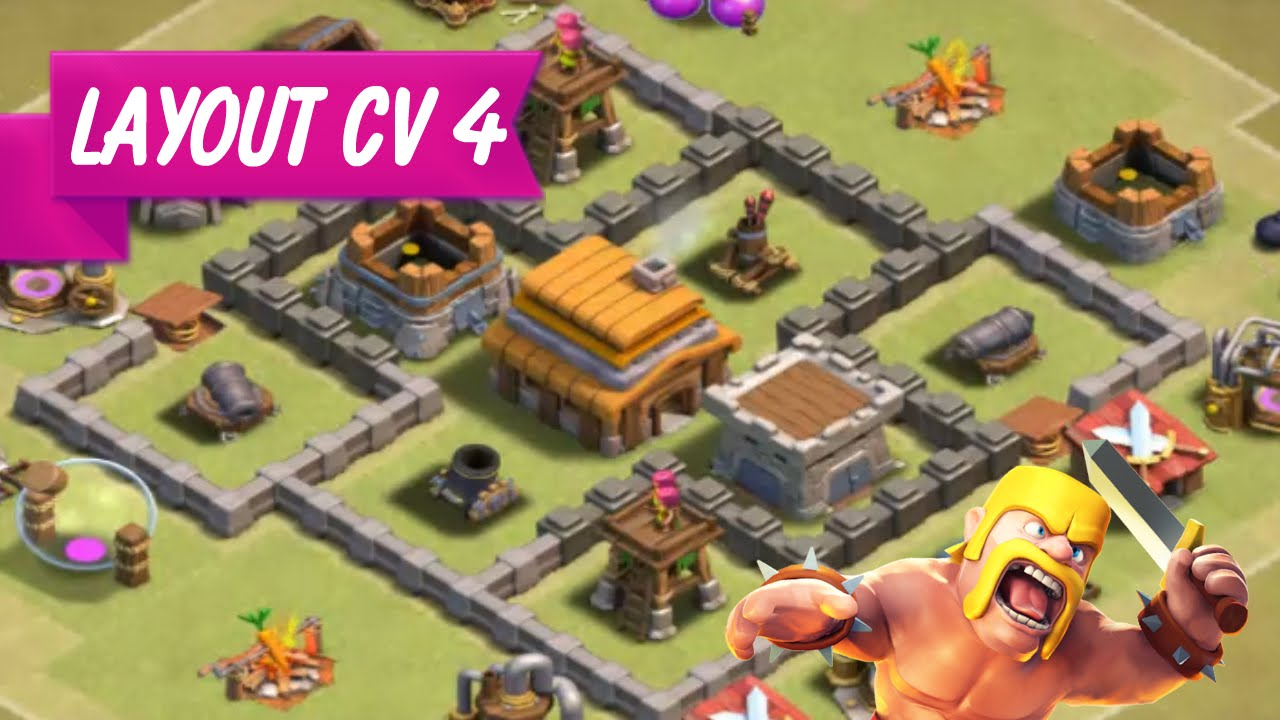layout cv 4 guerra clash of clans implacavel youtube - Layout Cv 4 Guerra