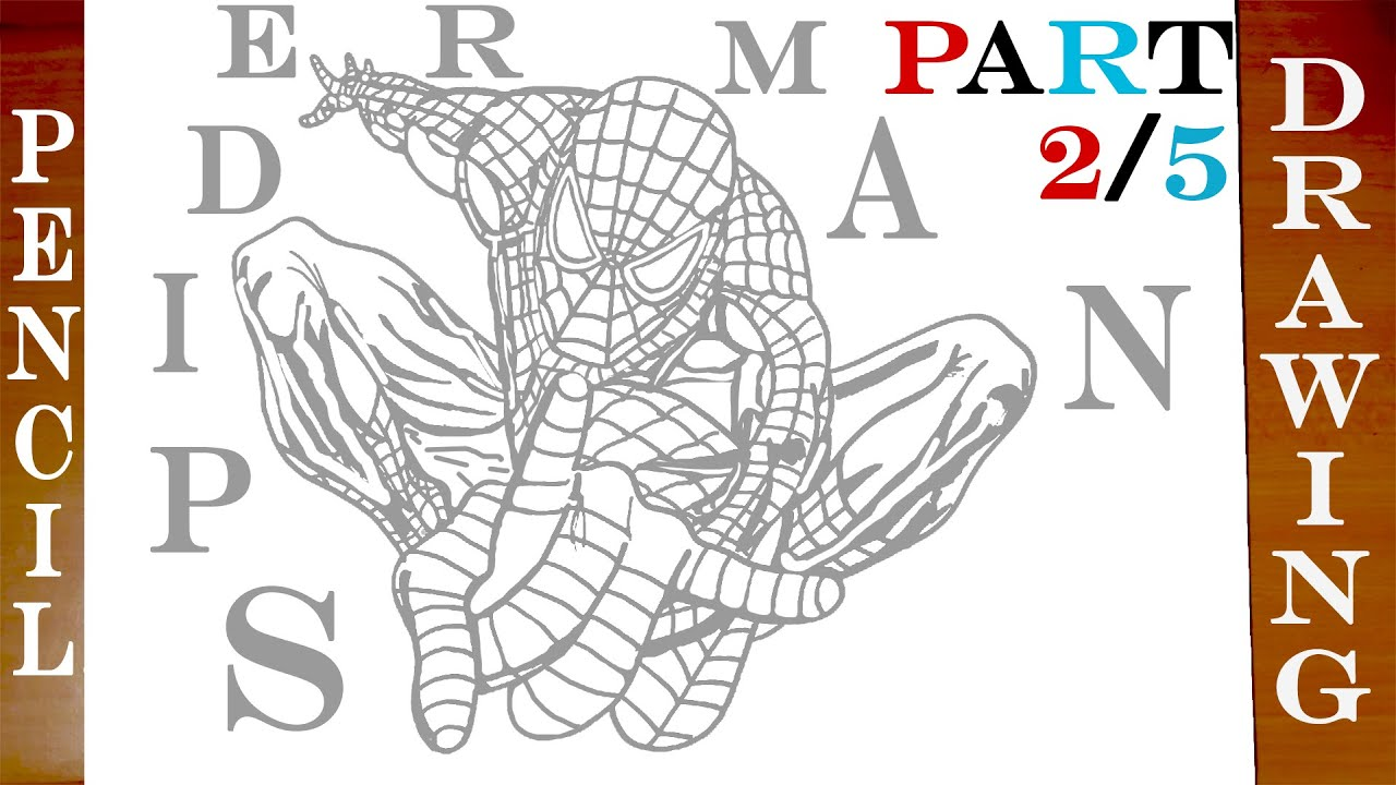 How To Draw Spiderman Step By Step Easy On Paper Full Body Marvel
