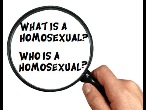 WHAT IS A HOMOSEXUAL WHO IS HOMOSEXUAL