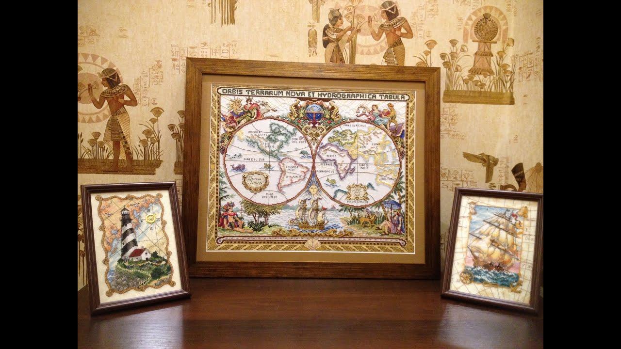 Старинные карты вышивка