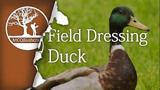Field Dressing Game: Duck Whole Bird