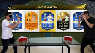 EPIC BEER PONG CHALLENGES!!! Fifa 16 FUT Draft Showdown feat. PING PONG TRICK SHOTS!!!