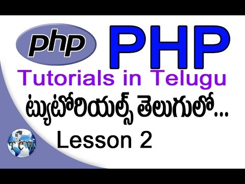 PHP Tutorials In Telugu - Lesson 2 - Echo-Print -Embedding PHP In HTML