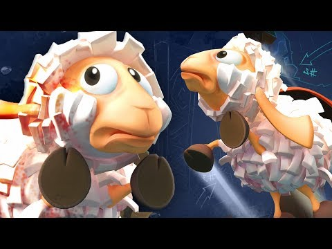 Saving cute and cuddly sheep from certain doom in the game Flockers |