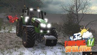 Farming Simulator 17 - Снег в апреле? Бригада греется в поле Прохождение польской фермы Bruzda ч32