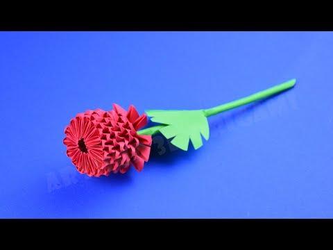 Origami Bunga Mawar Kertas ♡ DIY Cara Membuat Bunga Origami 3D