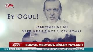 Duygusal sahne recep Tayip erdoğan