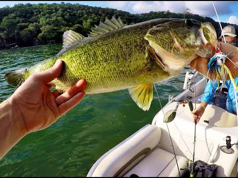 Bass Fishing Video From Lake Austin In Austin, Texas!