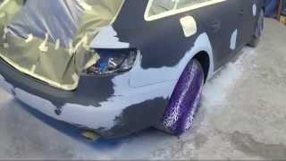 видео Оклейка авто плёнкой перед грунтованием