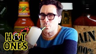 Dan Levy Gets Panicky While Eating Spicy Wings | Hot Ones