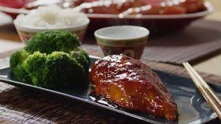 Запеченная в духовке курица в соусе терияки