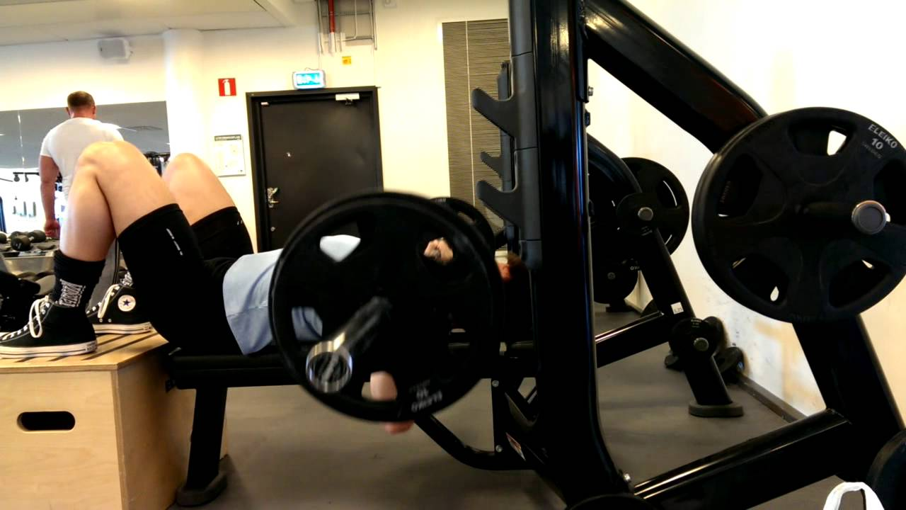 Superb Guillotine Bench Press Part - 8: Guillotine Bench Press / Bench Press To The Neck (feet Up), Side View