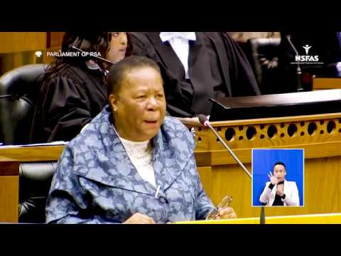 NSFAS  - Minister Naledi Pandor National Assembly in Parliament, 11 September 2018