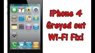 iPhone 4 Grayed out Wi-Fi Bar Fix!