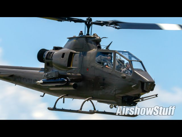 Cobra Attack Helicopter vs. Jet Truck! (On the runway!)