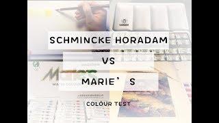 Schmincke Horadam vs Marie's   Colortest