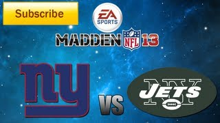 Madden 13: New York Giants vs. New York Jets Full Game [HD]
