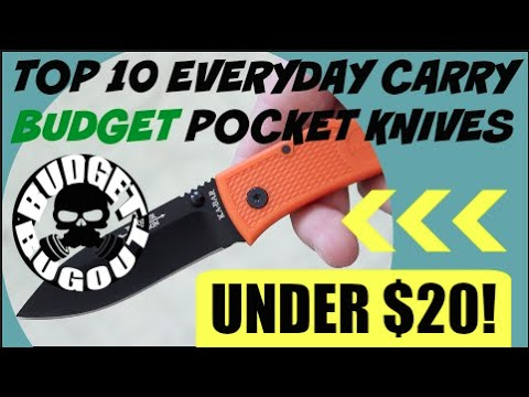 Top 10 Best Budget EDC [Everyday Carry] Knives Under $20 I Beater EDC Knives