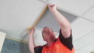 Dulux Professional Acousticoat Ceiling Tile Paint Application Instructions