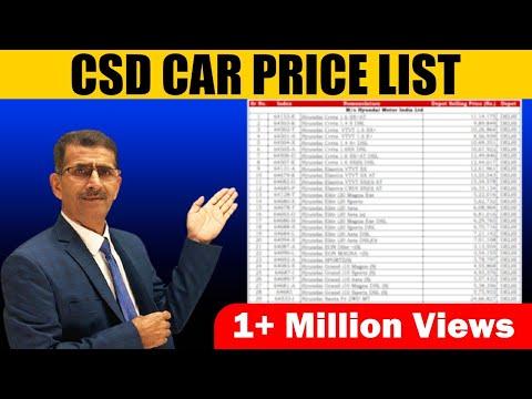 CSD CAR PRICE LISTAT AMBALA DEPOT !!!