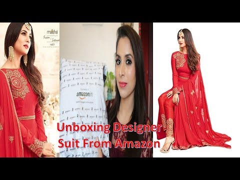Unboxing Wedding and Party Wear Designer Suit From Amazon    Sarita Malik