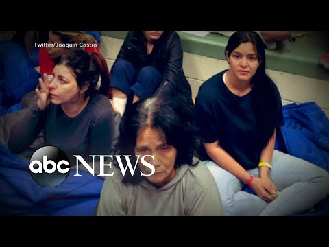 Lawmakers share video of women huddled in detention center