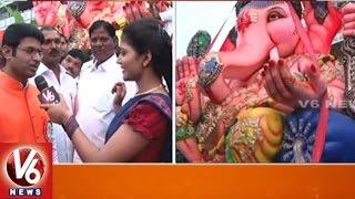 V6 Savitri With Balapur Ganesh Management  Ganesh Immersion 2016  V6 News