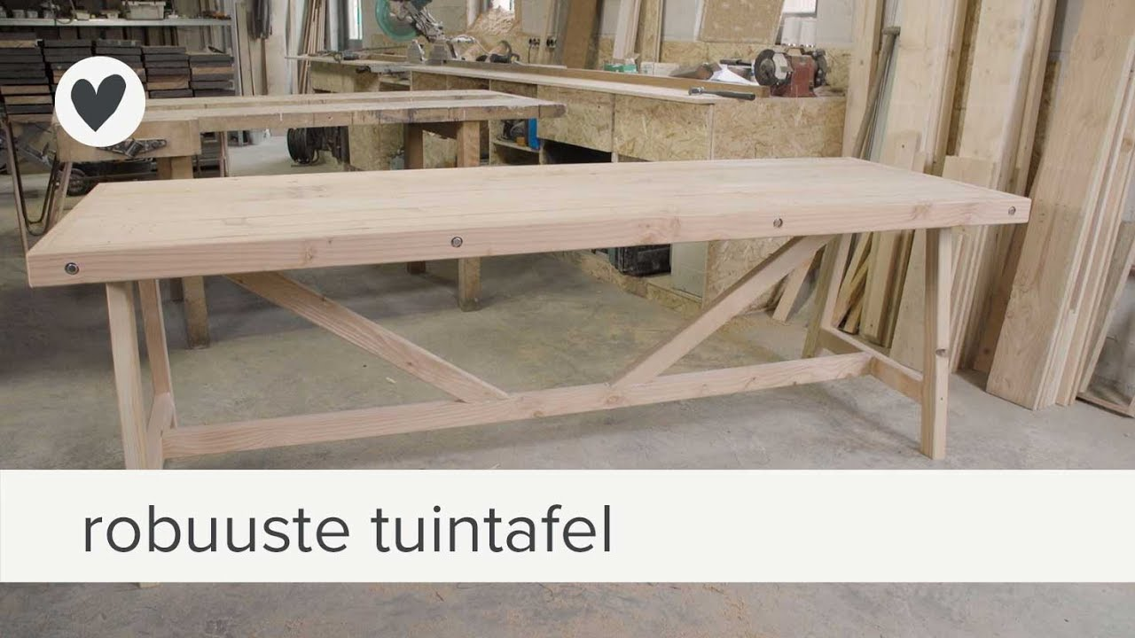 Tuintafel diy vtwonen youtube