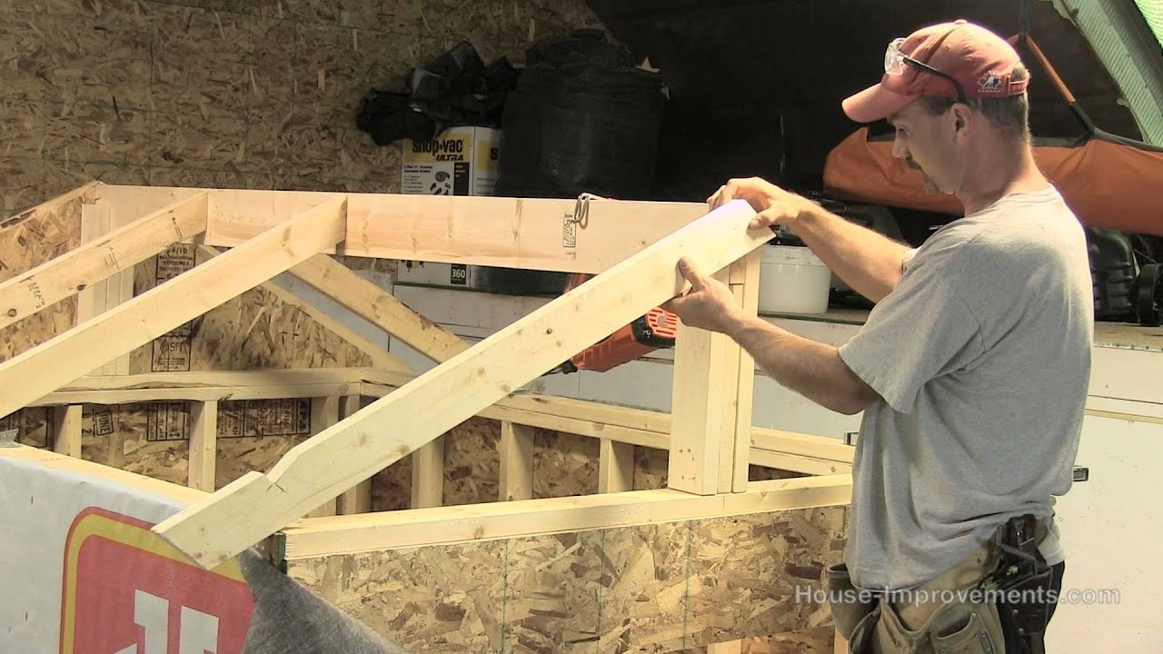 How to build a shed part 3 building installing rafters for Building a shed style roof