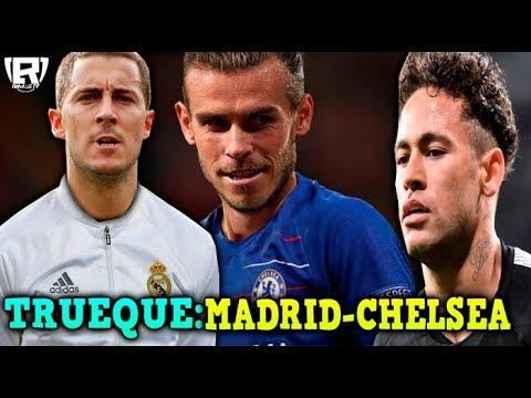 INTERCAMBIO: EDEN HAZARD Al REAL MADRID Y GARETH BALE Al CHELSEA | PSG AMARRA A NEYMAR
