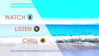 Relaxing Island Beach Ocean Waves Sound ( Instrumental Music )