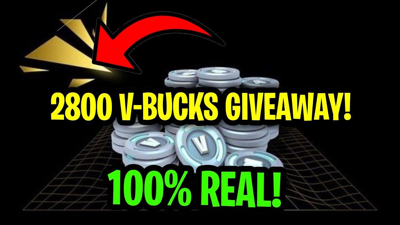 2800 V-Bucks Giveaway! - 4k Subscriber Giveaway Rules