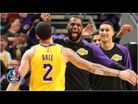LeBron James, Lonzo Ball both post triple-doubles in Lakers' win   NBA Highlights