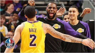 LeBron James, Lonzo Ball both post triple-doubles in Lakers' win | NBA Highlights