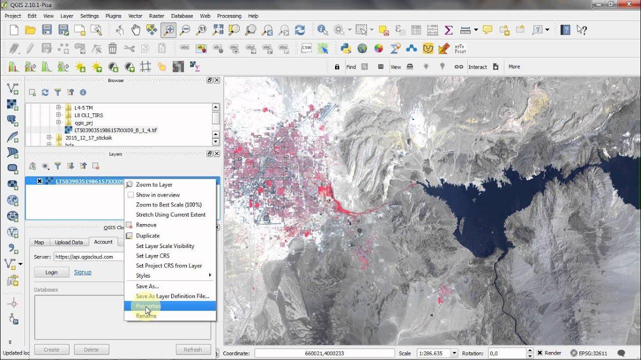 QGIS: Open Multispectral Satelliteimage - YouTube