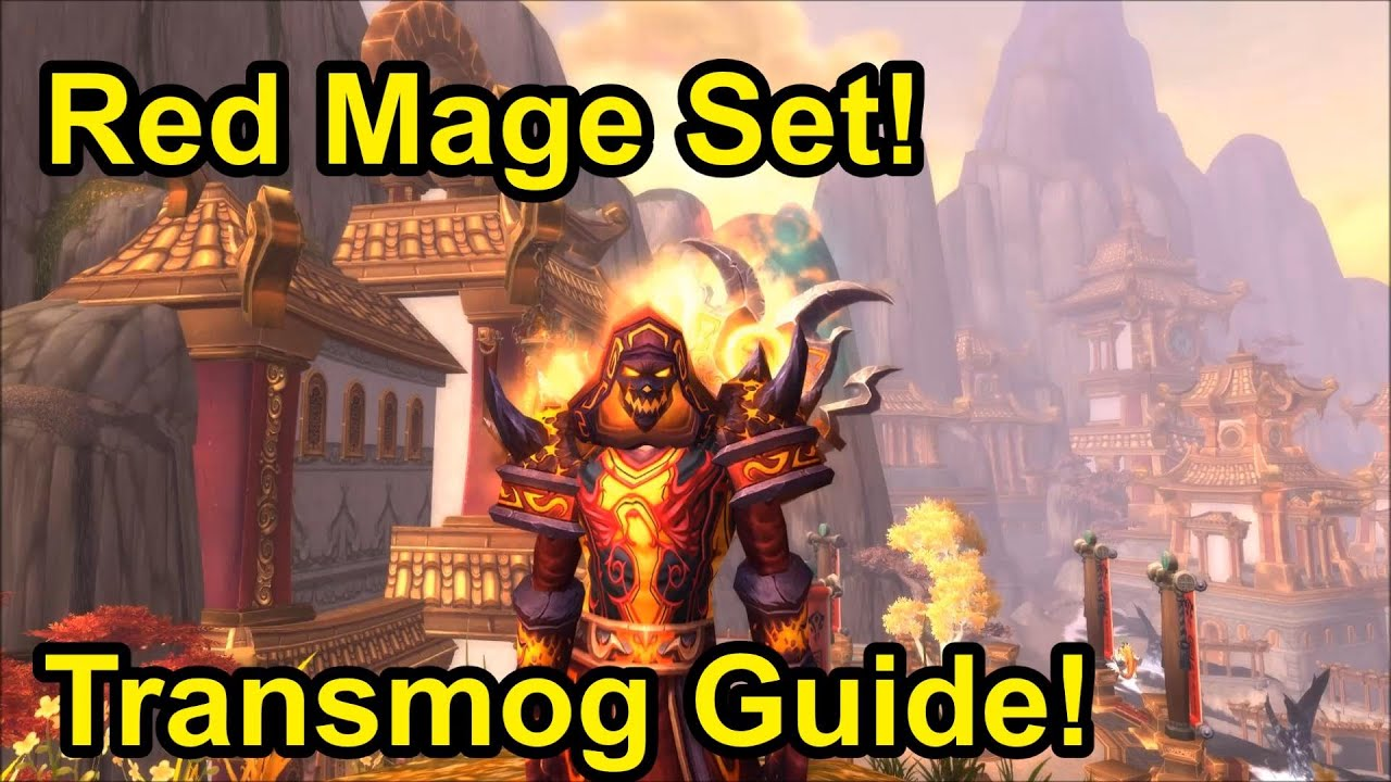 Wow patch 5 4 8 red mage set transmog guide youtube for Wow portent 5 4
