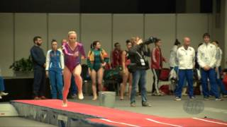 KOROBEINIKOVA Anna (RUS) - 2015 Trampoline Worlds - Qualification TU Routine 1