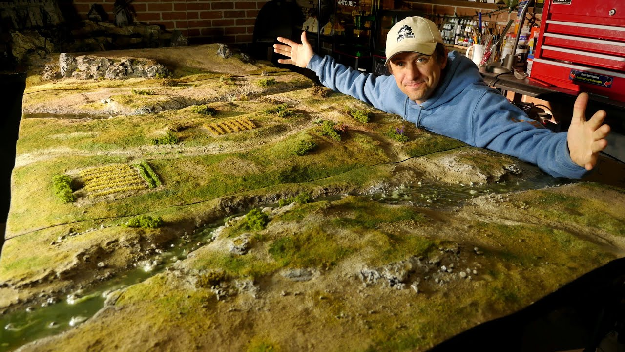 How I made this HUGE 8Ft Ultra-Realistic wargaming board!!!