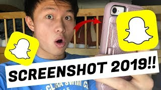 HOW TO SCREENSHOT ON SNAPCHAT WITHOUT THEM KNOWING!! **NOT CLICKBAIT** (WORKING 2019)